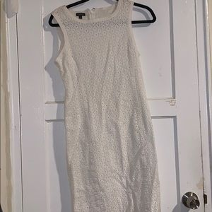 Talbots white embroided dress size 8